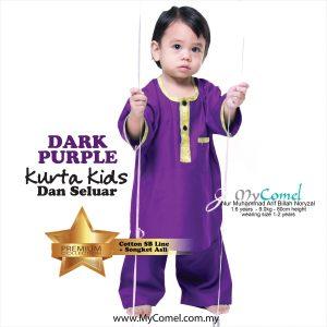 Kurta Kids & Seluar (Dark Purple)