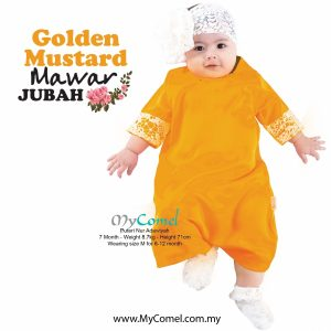 Jubah Baby Mawar – Goldan Mustard
