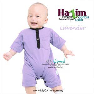 Baju Melayu Rompers Tshirt Hazim (Lavender)