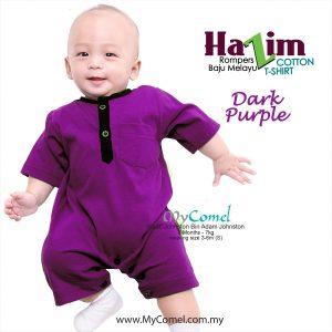 Baju Melayu Rompers Tshirt Hazim (Dark Purple)