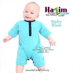 Baju Melayu Rompers Tshirt Hazim (Baby Blue)