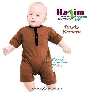 Baju Melayu Rompers Tshirt Hazim (Dark Brown)