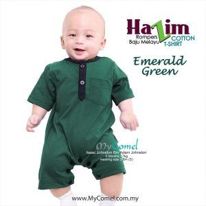 Baju Melayu Rompers Tshirt Hazim (Emerald Green)