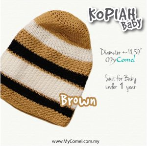 Kopiah Baby (Brown) – Suit for Baby under 1 year