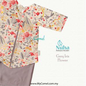 Kebaya Kurung – Grey Iris Flower