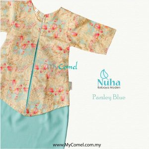 Kebaya Kurung – Parsley Blue