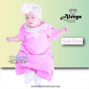 Rompers Baju Kurung – Soft Pink