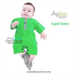 Baju Melayu Rompers – Apple Green
