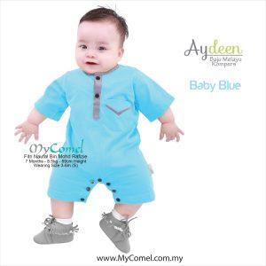 Baju Melayu Rompers – Baby Blue