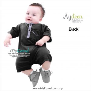 Baju Melayu Rompers – Black
