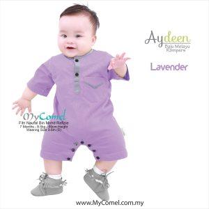 Baju Melayu Rompers – Lavender