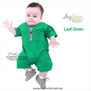 Baju Melayu Rompers – Leaf Green