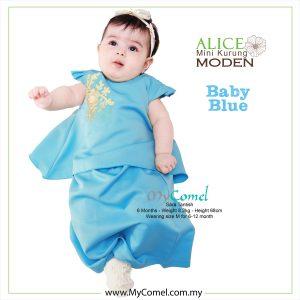 Mini Kurung Alice – Baby Blue