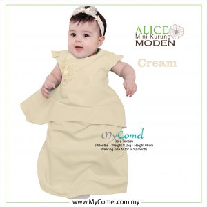 Mini Kurung Alice – Cream