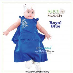 Mini Kurung Alice – Royal Blue