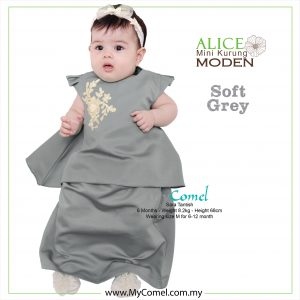 Mini Kurung Alice – Soft Grey