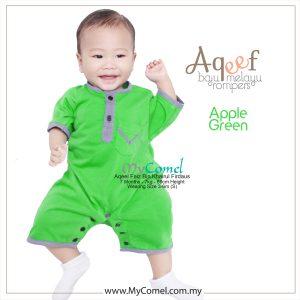 Apple Green – Baju Melayu Rompers AQEEF