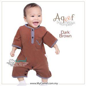 Dark Brown – Baju Melayu Rompers AQEEF