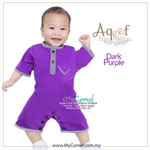 Dark Purple – Baju Melayu Rompers AQEEF