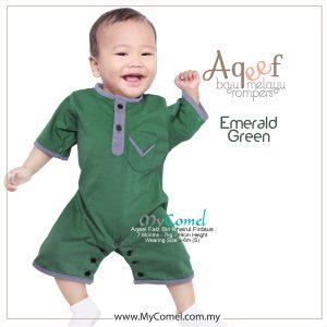 Emerald Green – Baju Melayu Rompers AQEEF