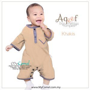 Khakis – Baju Melayu Rompers AQEEF