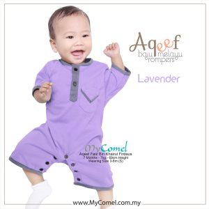 Lavender – Baju Melayu Rompers AQEEF