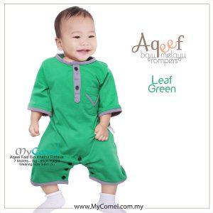 Leaf Green – Baju Melayu Rompers AQEEF-