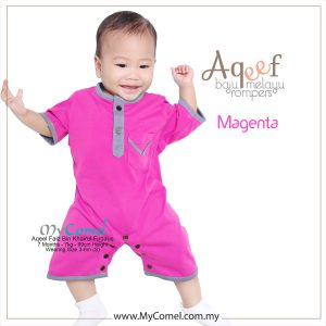 Magenta – Baju Melayu Rompers AQEEF