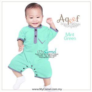 Mint Green – Baju Melayu Rompers AQEEF-