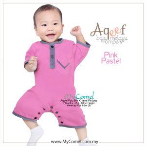 Pink Pastel – Baju Melayu Rompers AQEEF