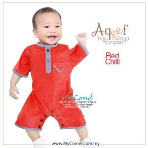 Red Chilli – Baju Melayu Rompers AQEEF