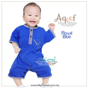 Royal Blue – Baju Melayu Rompers AQEEF