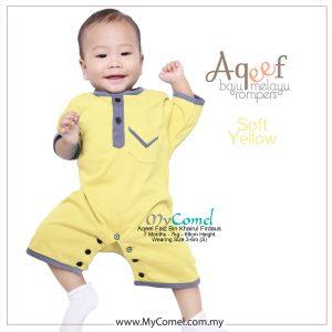 Soft Yellow – Baju Melayu Rompers AQEEF
