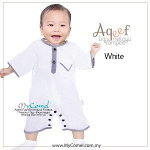 White- Baju Melayu Rompers AQEEF