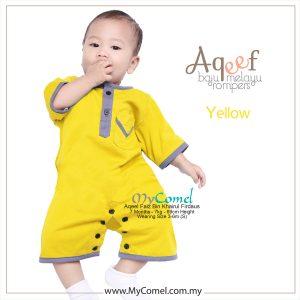 Yellow – Baju Melayu Rompers AQEEF