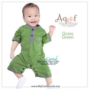 Grass Green – Baju Melayu Rompers AQEEF