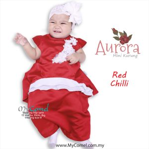 Mini Kurung Aurora – Red Chilli