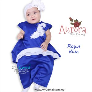 Mini Kurung Aurora – Royal Blue