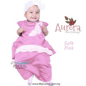 Mini Kurung Aurora – Soft Pink