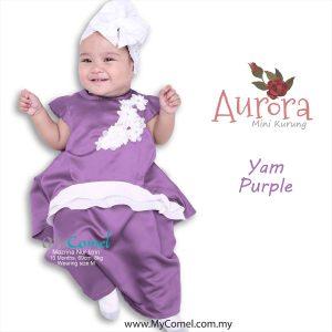Mini Kurung Aurora – Yam Purple