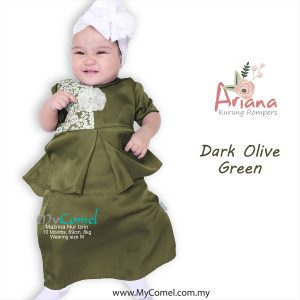 160d6a791479 ARIANA Mini Kurung Rompers – Dark Olive Green