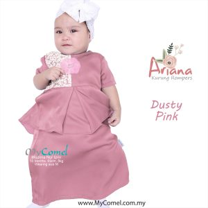 24c43a534427 ARIANA Mini Kurung Rompers – Dusty Pink