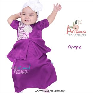 Kurung Rompers ARIANA – Red Chilli