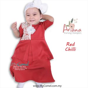 Kurung Rompers ARIANA – Red Chilli-01
