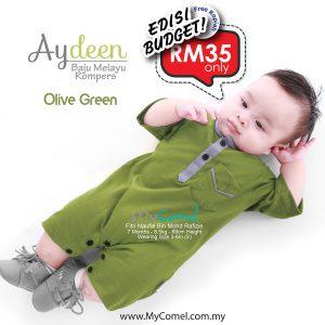 Baju Melayu Rompers- Olive Green