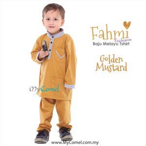 Baju Melayu Tshirt – GOLDEN MUSTARD