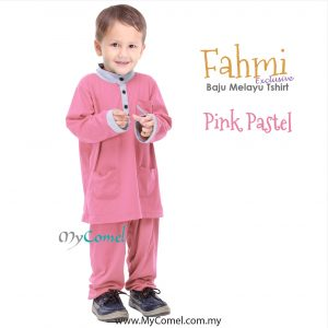 Baju Melayu Tshirt – PINK PASTEL-01