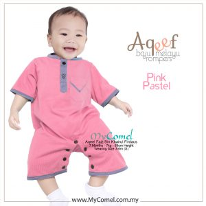 Pink Pastel NEW – Baju Melayu Rompers AQEEF-01